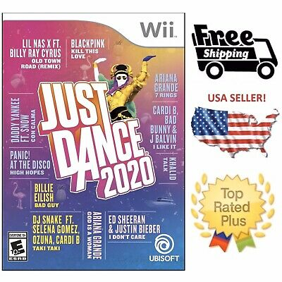 Just Dance 2020 20 Wii Nintendo Brand New Factory Sealed Fast Ship with Tracking