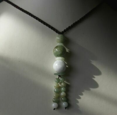 China certified multicolor natural jade beads round bead necklace 21 inches 001