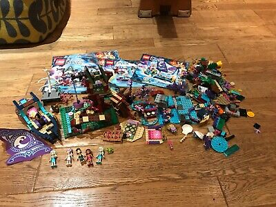 Lego Elves Bundle 41075,41073,41072 Tree House,boat And Dolphin House.