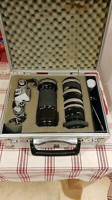 Canon AE-1 Camera with FD 50mm Lens - extention tubes and 2x teleconverter