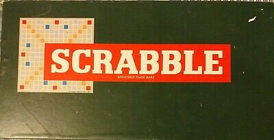 Vintage Scrabble board game with wooden tiles & tile racks family games night