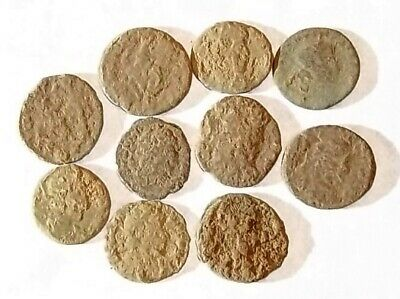 10 ANCIENT ROMAN COINS AE3 - Uncleaned and As Found! - Unique Lot 21750