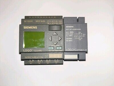 Siemens Logo! 12/ 24RC Controller  12/24V DC I/P 8XDC . 4XRelay/10A O/P And Dm8