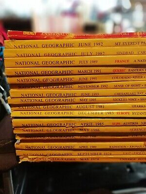 National Geographic Magazines 1980s & 1990's