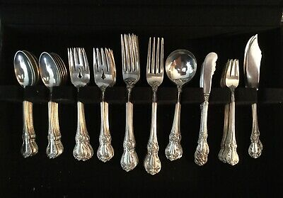 Old Master by Towle, 92 Piece Dinner Size Sterling Silver Flatware Set + Serving