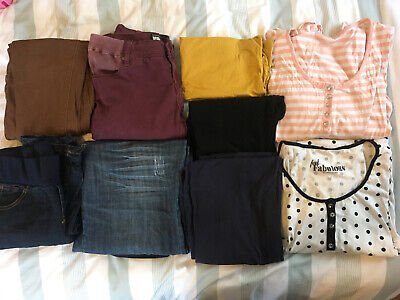 Womens Maternity Bundle - Size 14 - Jeans Trousers Tops Nightshirts - 9 Piece