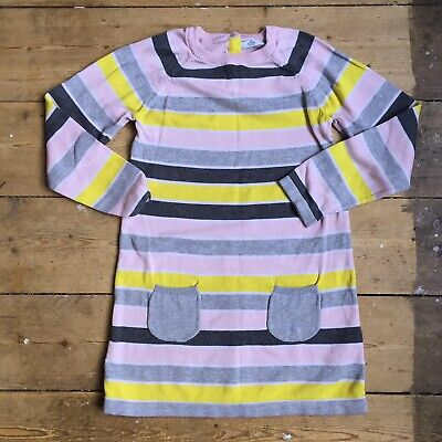 M&S Marks & Spencer Kids Striped Jumper Dress - AGE 6-7 YEARS Girls