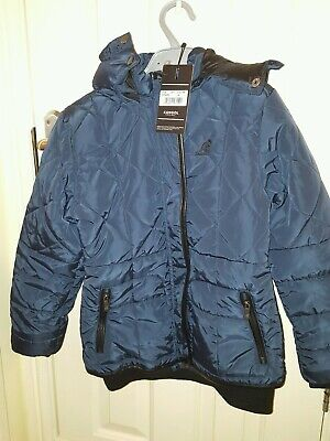 KANGOL Girls' Kids' Lousie Warm Winter Padded Jacket, Navy Blue,  9-10 yrs NEW