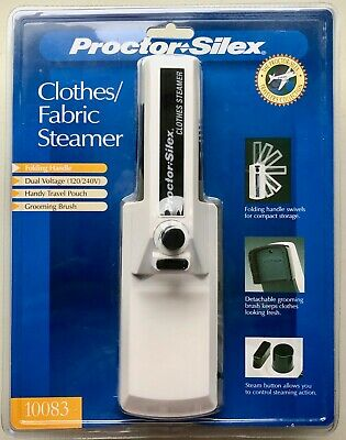 Proctor Silex Travel Clothes/Fabric Steamer Brush & Carry Bag~Dual Voltage~NEW