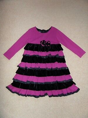 EXQUISITE Girl's DESIGNER Party Dress by ISOBELLA & CHLOE Age 6 Tiered From USA