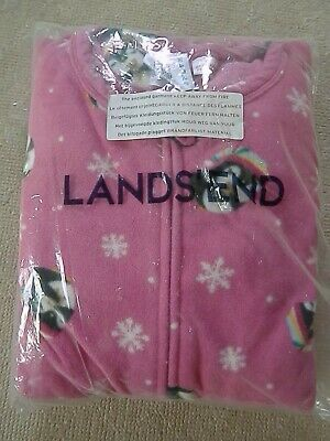 Lands End Fleece Pyjamas All In One With Feet Age 10-11 Years **Brand New**