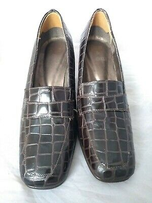 Lilley and skinner shoes Brown Crocodile Size 6 Leather vintage
