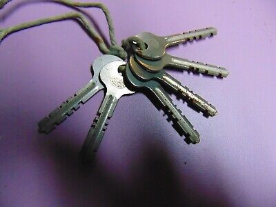 old vintage corbin depth keys  6 in all                   locksmith