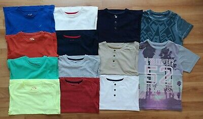 Large Bundle Of 13 Boys Short Sleeve Tops T-shirts Age 4-5 from TU BNWT
