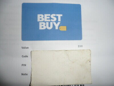Best Buy Gift Card Value $50
