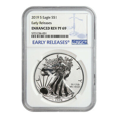Certified Enhanced Reverse Proof Silver Eagle 2019-S PF69 NGC Early Releases