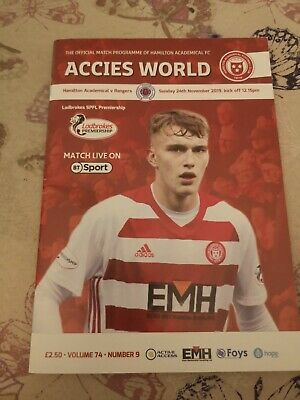 Hamilton Accies v Rangers SPL SPL.Sunday 24th November 2019.