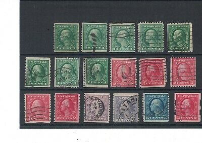 U.S. Small Washington Coil Lot, Many with dealer marks on rev, Cat. Val. $100+