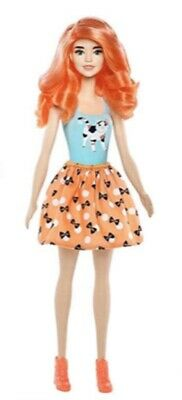 Barbie Color Reveal Doll 7 Surprises  Color Change Dolls Orange Wig Cat Shirt