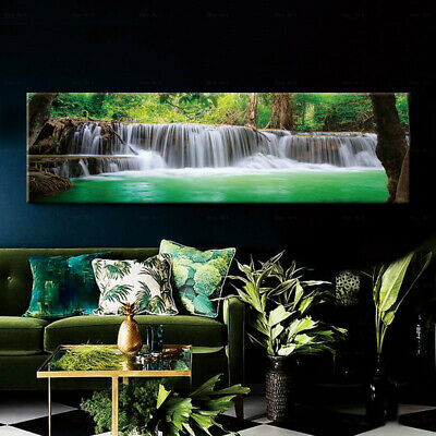 Canvas Painting Forest Wall Art Landscape Water Print Poster Picture Home Decor