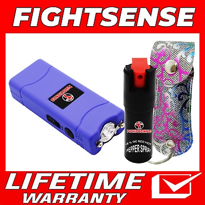 Mini Stun Gun and Pepper Spray Combo for Self Defense -Extremely Powerful New