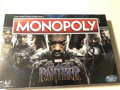 Monopoly Game Black Panther Edition New Sealed