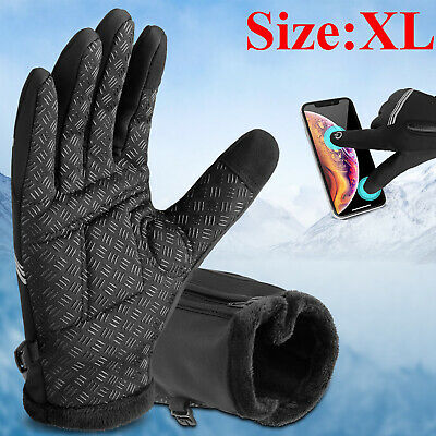 Men Windproof Gloves Ski Touch Screen Winter Snowboarding Warm Riding Women L US