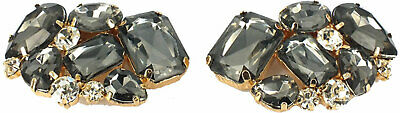 Shoe Clips (pair) withCrystals  (6cms x 4cms)-AU Seller