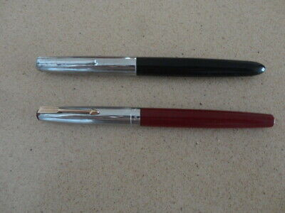 Vintage Parker 17 (Burgandy) & Parker 51 (Black) Fountain Pens