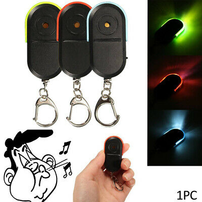 Whistle Smart Locator Keychain Tracker Anti-Lost LED Key Finder Sound Control UK