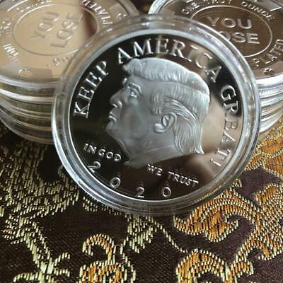 2020 President Donald Trump Silver Plated EAGLE Commemorative Coin Keep Great @m