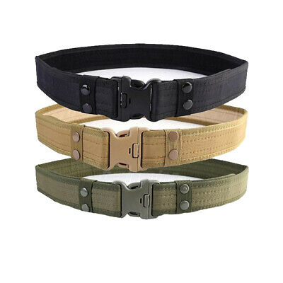 Outdoor Army Military Combat Tactical Nylon Belt Training Waistband Utility Tool