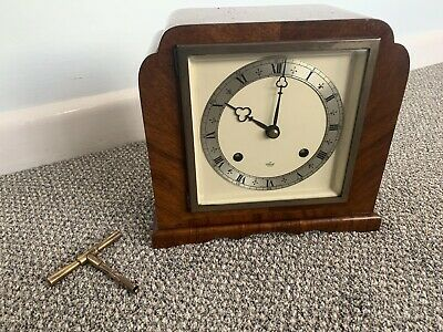 ELLIOTT CHIMING MANTEL / BRACKET CLOCK BY GARRARD & Co (with key)