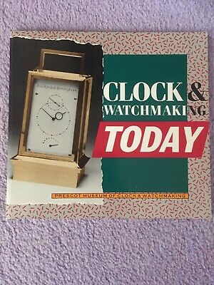 Clock & Watchmaking Today John Griffiths FBHI Booklet 1985 Exhibition Prescot