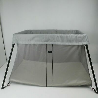 BABYBJÖRN Travel Cot Easy Go, Greige, with transport bag & fitted sheet