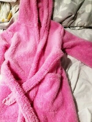 Girls Pink Dressing Gown - Size 7-8 - Used