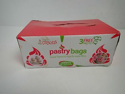 Disposable Piping Bags, 200 Pack - 16 Inch Extra Large