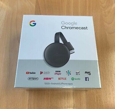 Google Chromecast 3rd Generation Media Streamer - Black