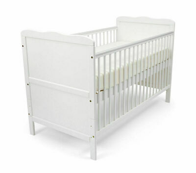 Poppy's Playground Isabella Cot Bed - White
