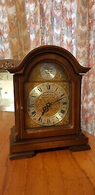 Schmeckenbecher wooden mantle table clock with chiming!Rare!
