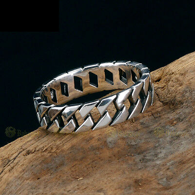 Unique Mens Womens Jewelry Zipper 925 Sterling Silver Band Ring Size 9 10