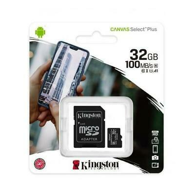 Kingston Micro SD Card 32GB Canvas Select Plus 100R A1 C10  Card + Adapter