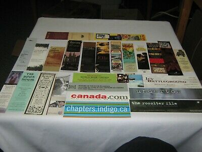 Vintage Lot Of 25 Assorted  Paper/Plastic Bookmarks -Books & Bookstores