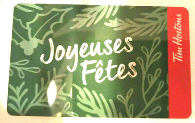TIM HORTONS GIFT CARD JOYEUSES FETES No Value BILINGUAL
