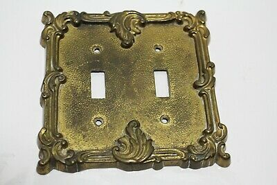 Brass  Light Switch Plates Electric Double Switch Outlet Wall Plate Cover Ornate