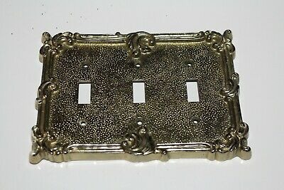 Brass  Light Switch Plates Electric Triple Switch Outlet Wall Plate Cover Ornate
