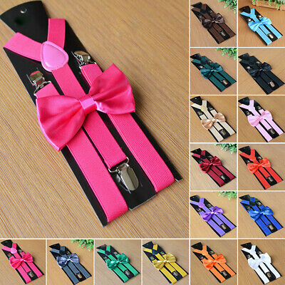 Men Ultra-elastic Cute Suspenders Braces&Bow Tie Combo Sets Fancy Costume