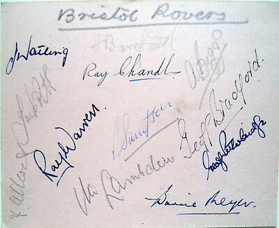 Bristol Rovers & Lincoln City 1954/55 Autograph Sheet