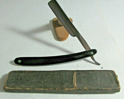 Vintage WADE & BUTCHER Sheffield England Straight Razor And Box, 5/8 inc, BHR 2A