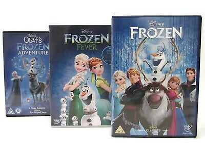 Disney Frozen DVD 2013 Fever Olaf's Frozen Adventure Shorts Collection Bundle